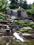 The Waterfall with George Rickey mobile sculptures in foreground