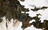 melting glacier and waterfalls