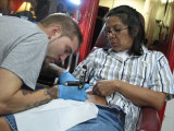 Vel getting another Tat 23 June 2008
