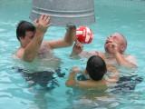 Having fun in the pool 28 June 2008