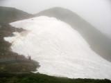 Ice covering the path to Jigokudani Onsen