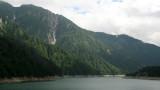 Mountain scenery along the reservoir