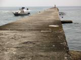 The long concrete pier, Utsumi