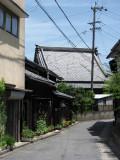 Narrow street leading to Junshō-ji, Handa