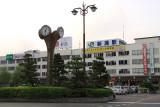 Early morning outside Niigata Station