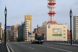 Bus crossing the Bandai Bridge