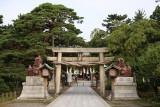 Outer torii of Hakusan-jinja