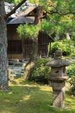Stone lantern and tea house, Shimizu-en