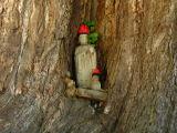 Buddhist deity in a niche