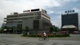 Cycling across Ploštad Makedonija