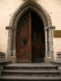 Gothic doorway into the Estonian History Museum