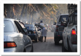 Traffic jam on northern shoreline, Bairro do Triunfo