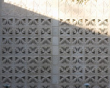 Cast Cement Blocks with Pattern