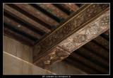 Islami Ornaments drawn on the wood inside Jabrin Fotress