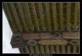 Ornaments drawn on the wood inside Jabrin Fotress