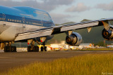 KLM 747 prepares for take off
