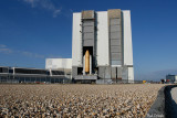 STS-117 Leaves the VAB