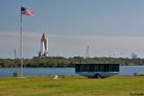 Atlantis rolls toward Pad 39A