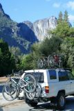 Bikes on a car, Yosemite National Park, California