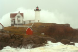 DSC02385.jpg MONSTER WAVE ... Nor Easter at moment of High tide, Nubbel light, york maine
