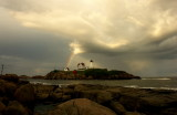 1359DSC08951.... MAGIC AT THE NUBBLE... nubble light... Nubble Lighthouse... york beach, maine, see...