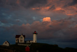 DSC09142.jpg... Nubble Lighthouse looking east at sunset :) ..... also see very clicked.....