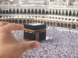 Reaching out for the Kaaba,Mecca.