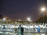 Praying maghrib in Mina.