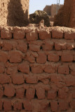 Mud brick wall.