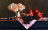 3. Still Life with Grapes and Pears 12 1/2 x 19 1/4
