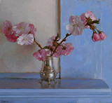 7. Cherry Blossoms on  Blue Mantle 10 3/4 x 11 1/2