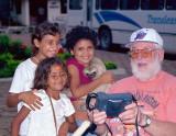 Cameraman and kids.