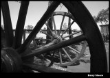 Wagon wheels and axle