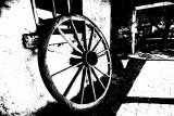 Wagon wheel on the homestead wall - reprise