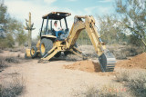 Boy, it sure helps to have a neighbor (Joe) who has access to a backhoe.
