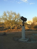 The telescope at home on its pier.