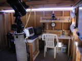 A closer view of the workstation area, shot earlier.