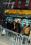 Fans waiting on line, Frederick Douglass Boulevard