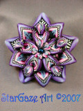 Purple StarBurst Pin
