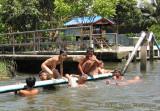 Boys Swimming in a Klong