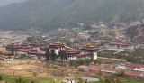 Thimpu Dzong from the Golf Course