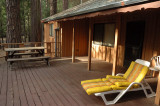 The deck of our cabin in Wawona