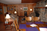 Living area of our cabin in Wawona