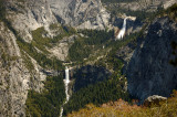 Nevada and Vernal Falls viewed from Washburn Point