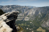 Yosemite Falls and Yosemite Valley from Glacier Point