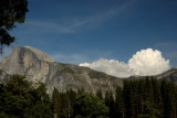 Clouds and the Half Dome