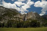 Yosemite Falls & clouds
