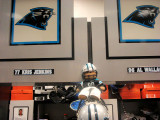 In the Carolina Panther Locker Room
