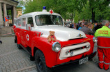 I found a vintage ambulance from the red cross.