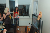 With Rebecca and Anette in Singstar on Playstation